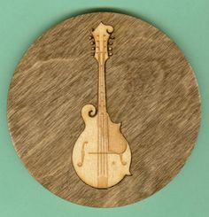 Wood Coasters Bluegrass Music - Laser Cut Inlaid Set of Four (CI-BG4)
