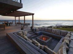 Terraza de playa...