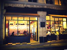 Oenosteria is a wonderful little place to stop for a glass of wine or tasty snacks. A very charming, relaxed & warm atmosphere. 40 Rue Grégoire de Tours, Paris.