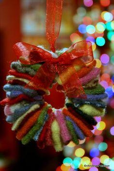 cherished*vintage: DIY Felt Wreath Ornament