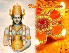 Thanking Lord Dhanvantari, the Founder of Ayurveda, on Dhan teras