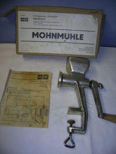 MOHNMÜHLE , DDR Ostalgie Meuselwitz Mühle Mohn Küchengerät Handmühle backen