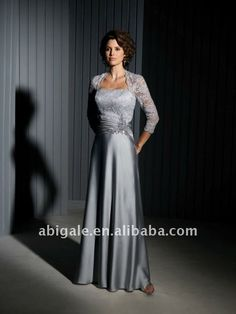 Sheer Long Lace Sleeve Lace Bodice Bride Mother Dresses US $115.79