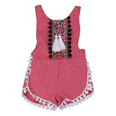 Boho Summer Sunsuit baby girl kids cool clothing
