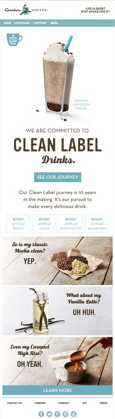 Caribou Coffee eblast design