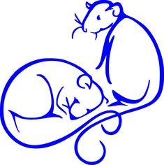 "Logo - Rattie World O' Comfort, ""where sleeping rats lie"""