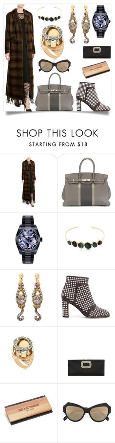 """Valentino Mink Coat"" by camry-brynn ❤ liked on Polyvore featuring Hermès, Celine Daoust, Wendy Yue, Vanzi, The Laundress and Zanzan"