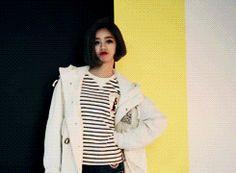 Hyeri Girl's Day Vogue Girl March 2014 Cartoon GIF