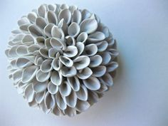 Davenport Honey Dahlia Wall Sculpture by DillyPad on Etsy