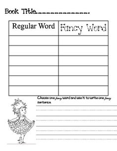 Fancy Word Word Book - free printable