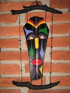 mascaras con hojas de palmeras - Buscar con Google Palm Frond Art, Palm Fronds, Tiki Faces, Tableau Pop Art, Palmiers, Ideias Diy, Recycled Art, Art Festival, Beach Art