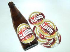 Adesivo impresso a laser em papel couche para Cerveja Long-Neck (Sem adesivo Gargalo) 7,5x7,5cm Papel Couche Adesivado  www.catiacunha.com/blog
