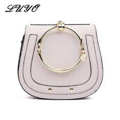 LUYO Ring Saddle Casual Girls Shoulder Bag Small Handbag Crossbody For Women  Messenger Bolsa Feminina Famous. Famous DesignerLuxury ... 54554a7dbfbae