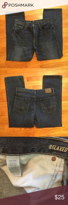Men's AE Relaxed Jeans 36x34 men's jeans. GREAT condition. Worn twice. Relaxed fit. American Eagle Outfitters Jeans