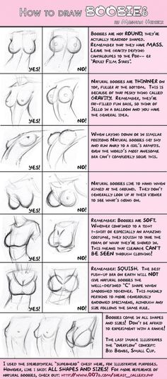 An old favorite of mine on how to draw those strange globular bits on the front of women, ie breasts.