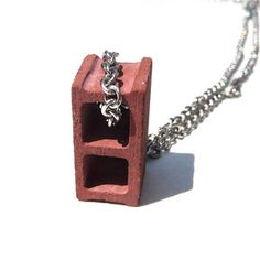 "Cinder Block Necklace Red 20"" now featured on Fab."