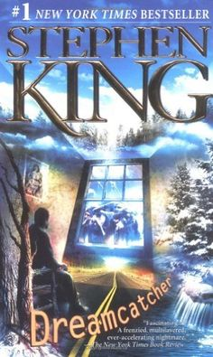 Dreamcatcher by Stephen King Twenty-five years after saving a Down's-syndrome kid from bullies, Beav, Henry, Pete, and Jonesy reunite in the woods of Maine for their annual hunting trip. But when a stranger stumbles into their camp, disoriented and mumbling something about lights in the sky, chaos erupts. Soon, the four friends are plunged into a horrifying struggle with a creature from another world.