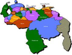 Physical Map Of Venezuela | Map of Venezuela - Political Division