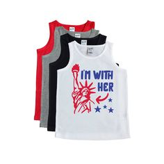 60baf2a0 4th of July Shirt - Fourth of July Tank - Funny Patriotic Tank - Boy's July  4th Tee - Stars and Stri