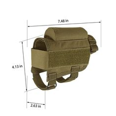 AUOON Tactical Buttstock Rifle Shell Holder, Portable Adjustable Rifle Stock Pack, Cheek Rest Pouch Holder Pack with Ammo Carrier Case for - Win Mag, Two Color 300 Win Mag, Rifle Stock, Hunting Rifles, Shotgun, Firearms, Shells, Pouch, Amazon, Link