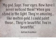 Bloodlines Quotes | Adrian Ivashkov