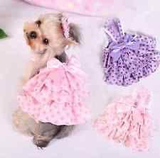 New Cotton Puppy Vest Cloth Pet Dog Cat Summer Skirt Apparel Dress XS S M L XL