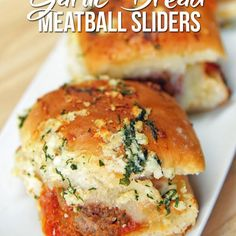 These Garlic Bread Meatball Sliders Will Have You Saying Oh My Word, Over And Over Again!!