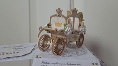 Wedding Gift- Exploding box with  3D Carriage