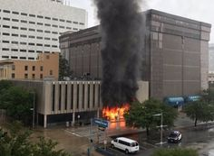 Fuerte explosión se registró en el centro de Houston (+video)