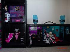 homemade Monster High dolls house