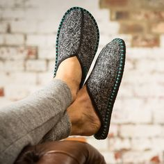 Nordic Men's Slippers by Slipperstar, the perfect gift for Explore more unique gifts in our curated marketplace. How To Make Slippers, Hard Wear, How To Wear, Star Wars, Blanket Stitch, Mens Slippers, Keep Warm, Denim Fashion, Classic Looks