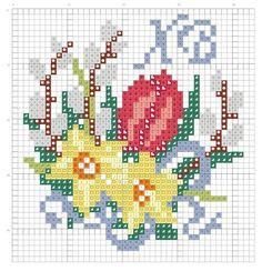 вышивка крестом пасха  схемы: 22 тыс изображений найдено в Яндекс.Картинках