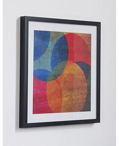 Colourful circles framed print
