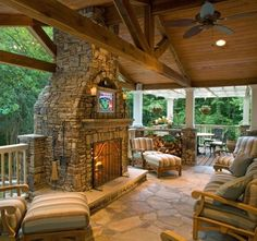 Elegant Outdoor Patio Ideas With Fireplace Outdoor Patio Fireplace Pictures Patios Home Design Ideas - Patios are a remarkable place to spend your summer s Outdoor Living Rooms, Outdoor Spaces, Outdoor Decor, Outdoor Patios, Living Spaces, Outdoor Kitchen Design, Patio Design, Outdoor Kitchens, Back Patio