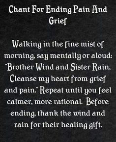 Relief Of Grief Chant