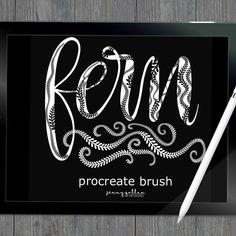 Procreate Brushes iPad Pro Fern by JennyGollanStudio on Etsy