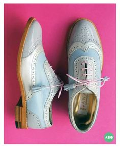 ABO + Ana Ljubinkovic brogues #abo #shoes #brogues #ana_ljubinkovic #oxfords #pastel