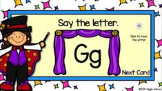 Giggly Games The Amazing Alphabet Digital Flashcard Google Slides Flashcard, Differentiated Instruction, Learning Centers, Childhood Education, Special Education, Teacher Resources, Alphabet, Encouragement, Lettering