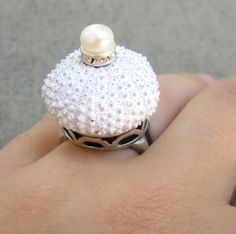 "Sea Urchin Collection - Sterling Silver White Sultan Ring -     by   ""StaroftheEast""      59,44 €"