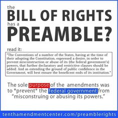 The Bill of Rights Preamble...in case Obama forgot....Obama does not care. he has the same stated goal as Soros-the destruction of the United States of America.