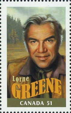 Canada Post honours Lorne Greene on 2006 stamp featuring four Canadian actors who made a lasting impression on Hollywood. Canadian Things, I Am Canadian, Canadian History, Lorne Greene, O Canada, Canada Post, Commemorative Stamps, Old Stamps, Postage Stamp Art