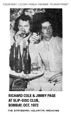 Richard Cole and Jimmy Page of Led Zeppelin - 1972