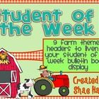 Farm - Barnyard - Student of the Week -Use these 9 super-cute headings for your Student of the Week bulletin board display. This adorable barnyard theme will liven up any classroom! ...