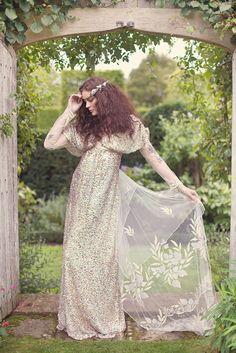 Drama.  Secret Garden Wedding inspiration, Claire Pettibone, Clinton Lotter, Rivini