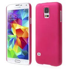 Coque satinée rose fuchsia pour Galaxy S5 - Coques en Folie