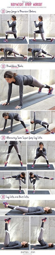 30-min bodyweight amrap workout.