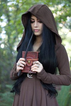 Autumn Witch | Model/Makeup/Styling/Editor: Mahafsoun  Photographer: Roya D Dress: Crossfox Rings: The Rogue + The Wolf  Necklace: Open The Cellar Door