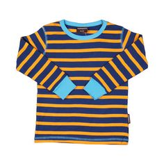 Navy & Orange Stripe Shirt. ittikid.