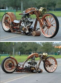 Steampunk Tendencies...nice bike...love the steampunk look!!!!