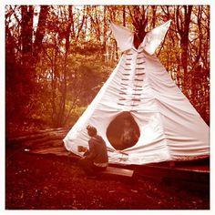my backyard teepee.